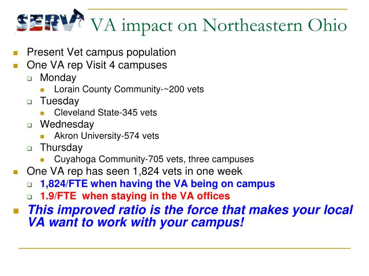 VA impact on Northeastern Ohio