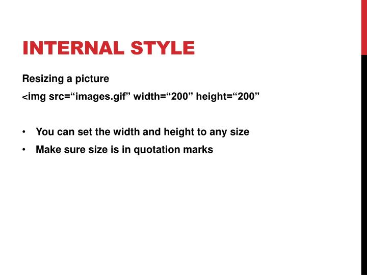 Internal style