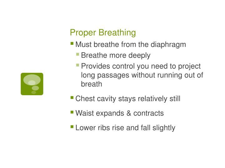 Proper Breathing