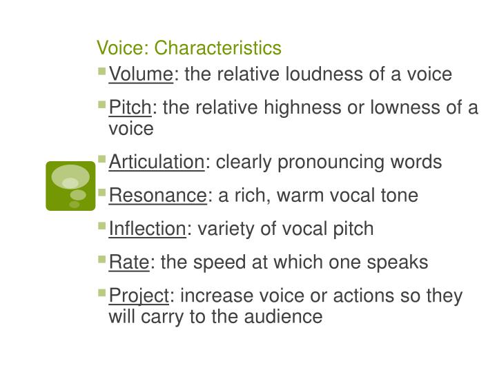 Voice: Characteristics