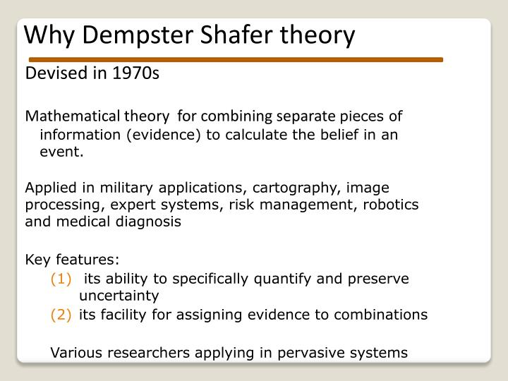 Why Dempster Shafer theory