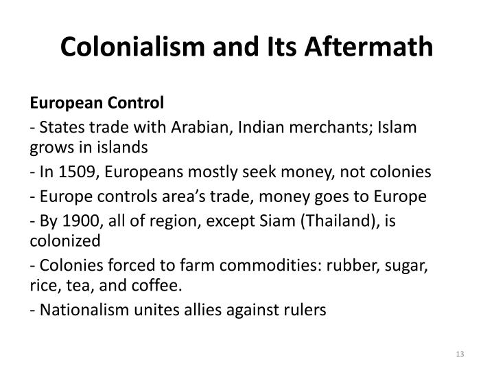Colonialism and Its