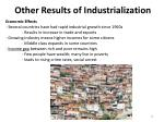 other results of industrialization