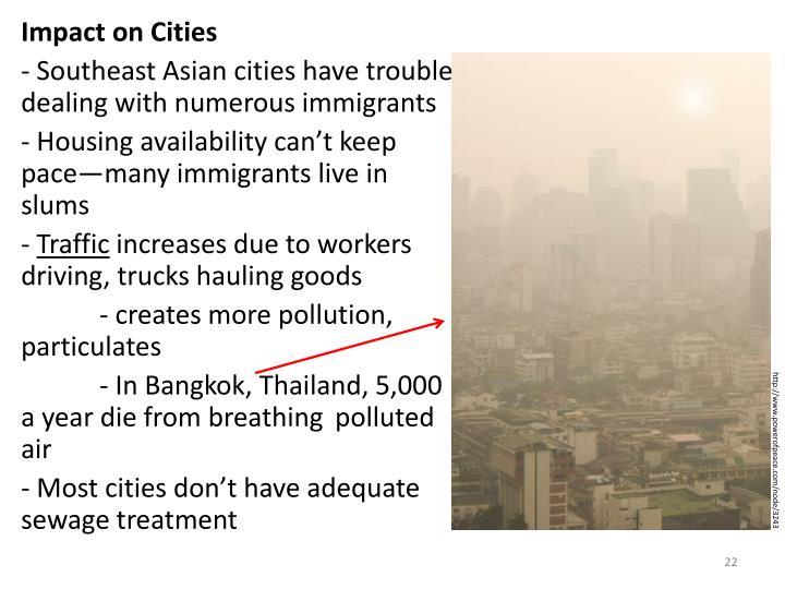 Impact on Cities