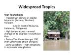 widespread tropics