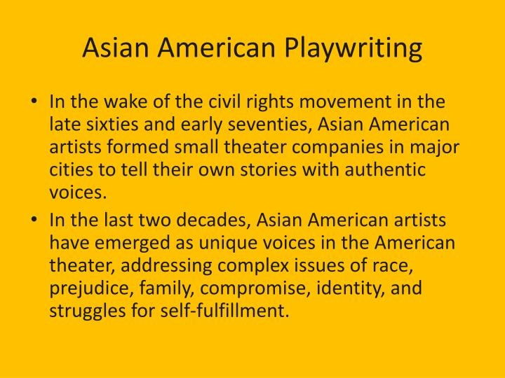 Asian American Playwriting