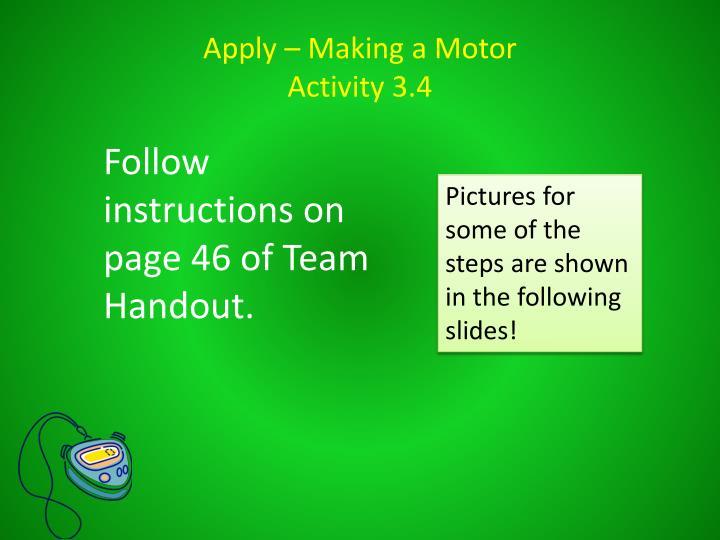 Apply – Making a Motor