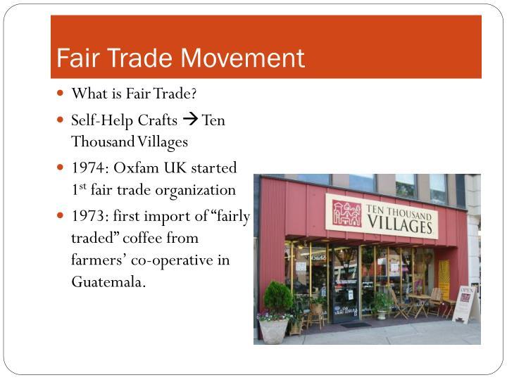 Fair Trade Movement