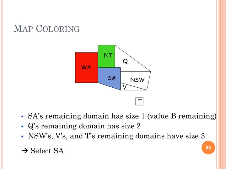 SA's remaining domain has size 1 (value