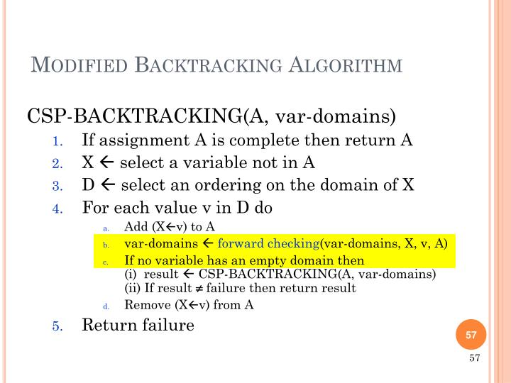 CSP-BACKTRACKING(A,