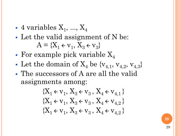 4 variables X