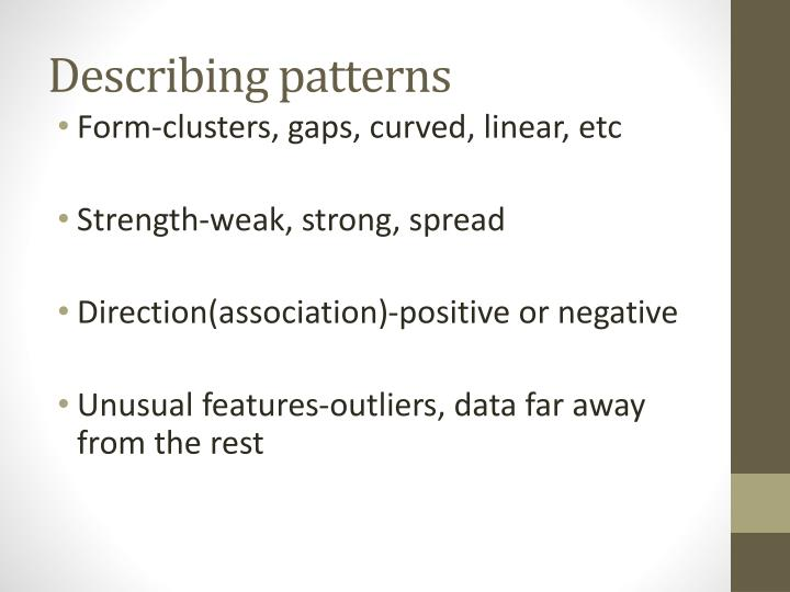 Describing patterns