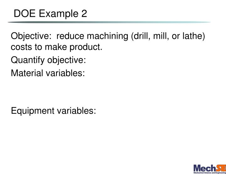DOE Example 2