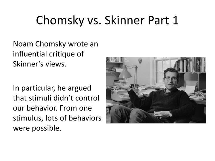 Chomsky vs. Skinner Part 1