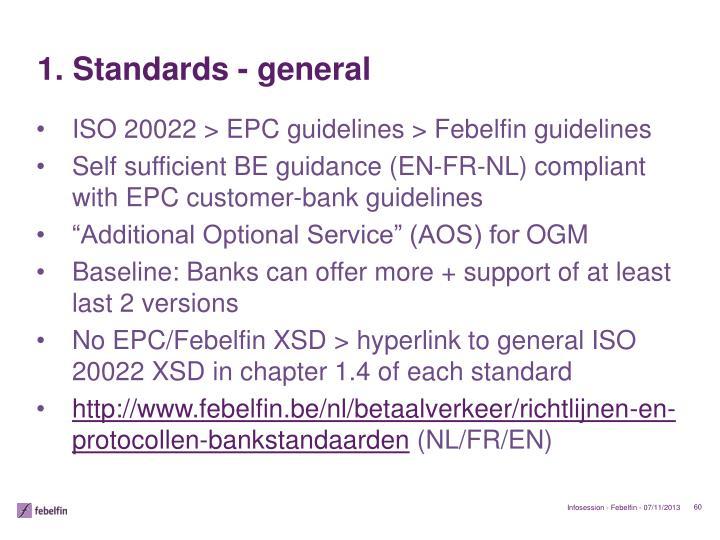 1. Standards -