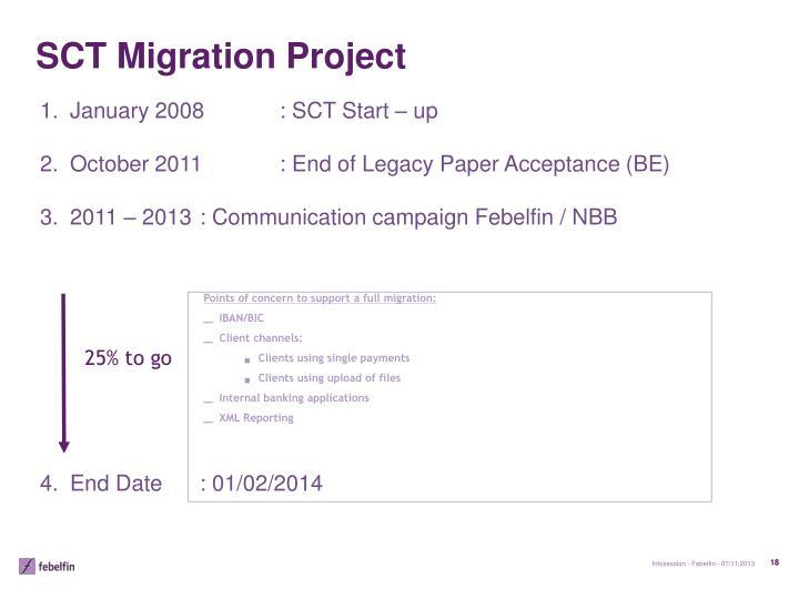 SCT Migration Project