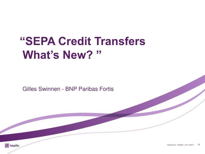 """SEPA Credit Transfers"