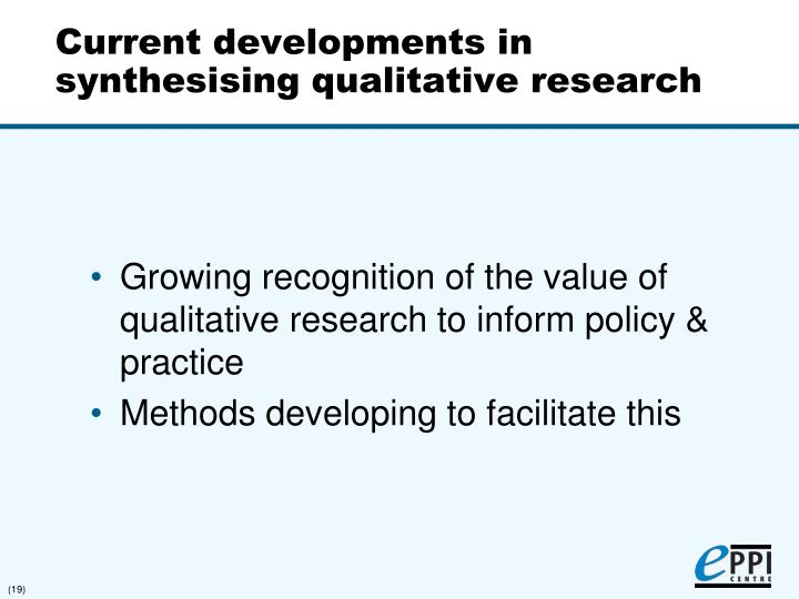 synthesising qualitative and Synthesising qualitative and quantitative evidence within a systematic review the cochrane collaboration, systematic reviews and meta-analysis evaluating the literature.