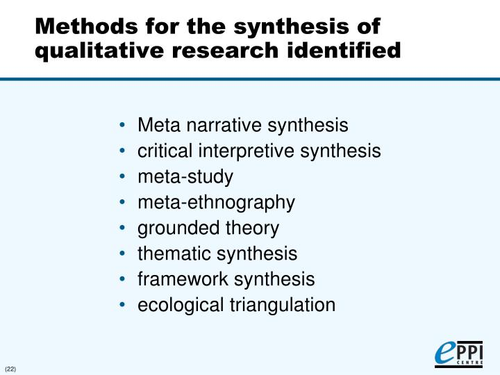 Synthesising qualitative and