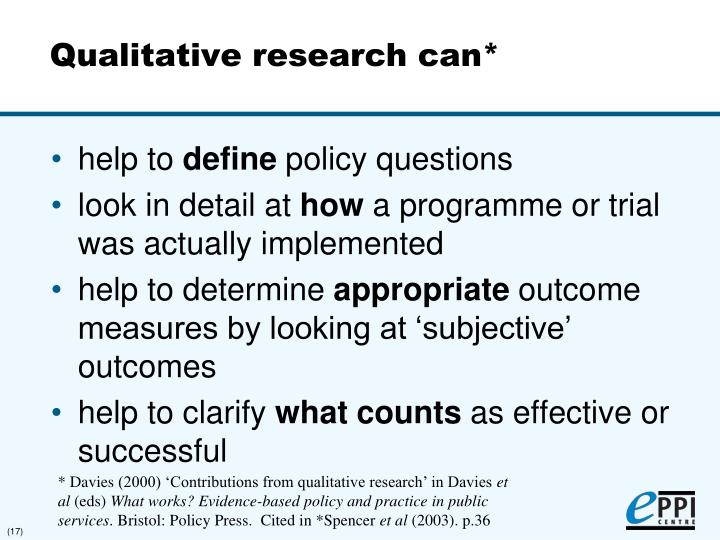 synthesising qualitative and quantitative research In recent years, a growing number of methods for synthesising qualitative research have emerged, particularly in relation to health-related research there is a need.