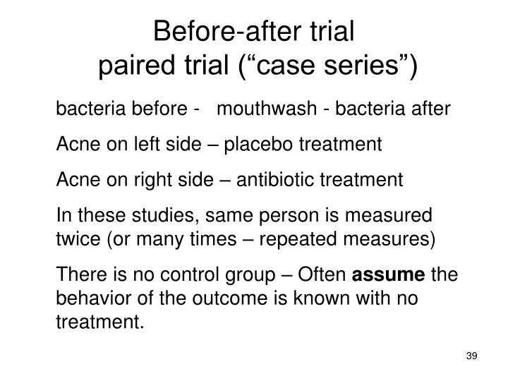 Before-after trial