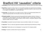 bradford hill causation criteria