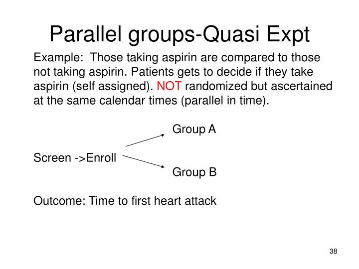 Parallel groups-Quasi Expt
