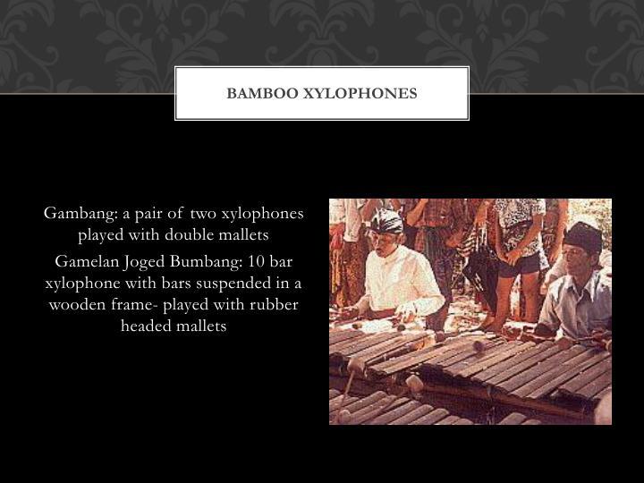Bamboo Xylophones