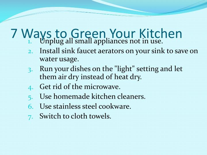 7 Ways to Green Your Kitchen