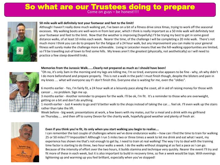 So what are our Trustees doing to prepare