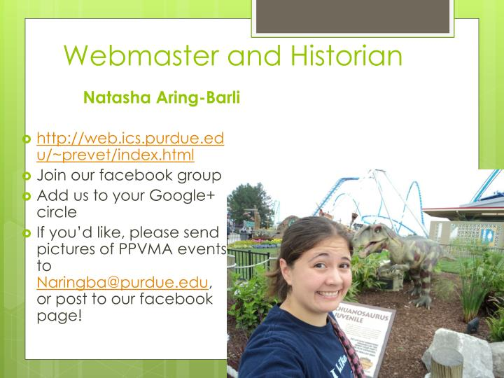Webmaster and Historian
