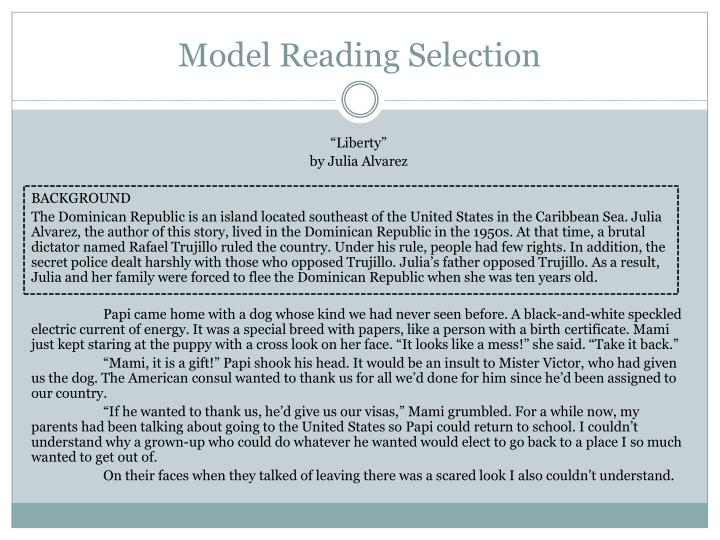 Model Reading Selection