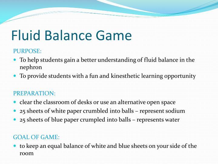 Fluid Balance Game