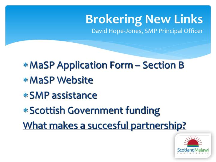 Brokering New Links