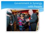 government in synergy with people