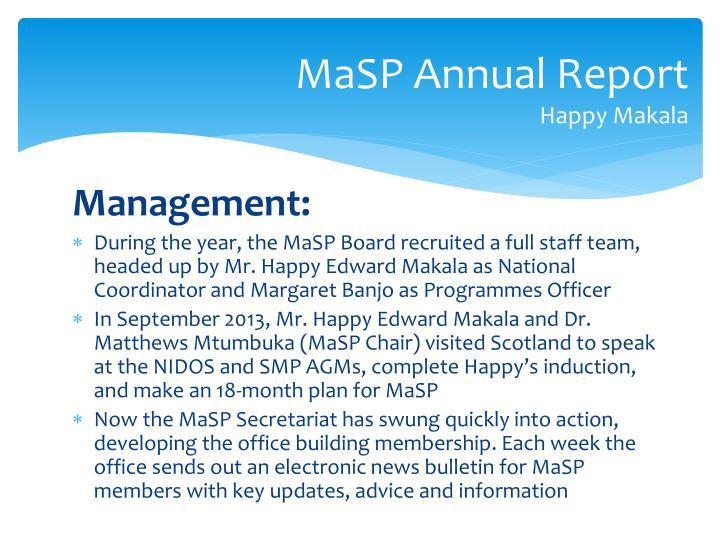 MaSP Annual Report