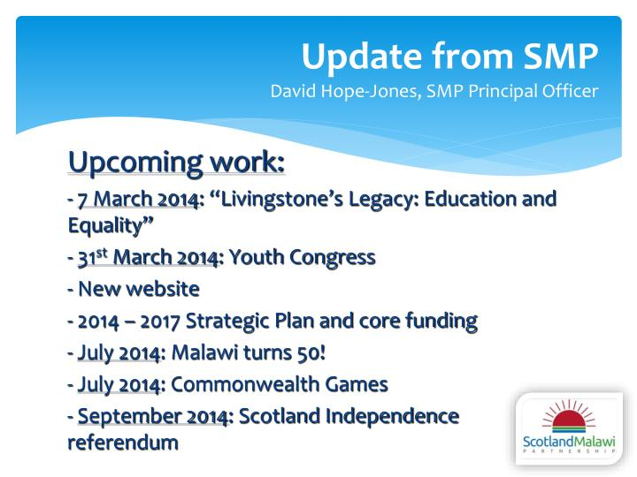 Update from SMP