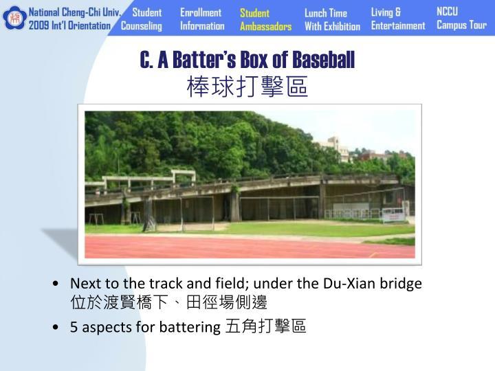 C. A Batter's Box of Baseball