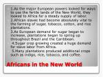 africans in the new world