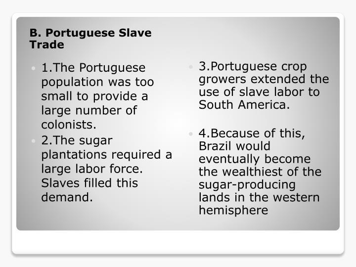 B. Portuguese Slave Trade