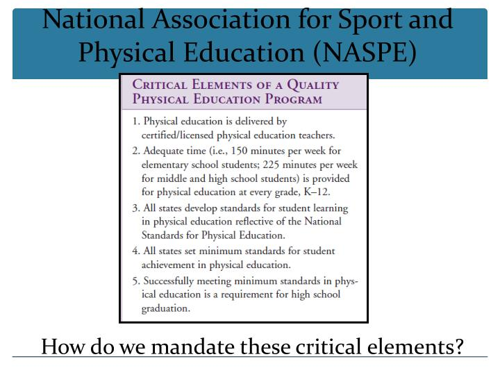 National Association for Sport and Physical Education (NASPE)