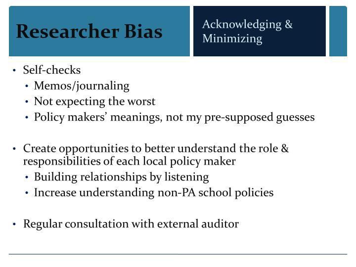 Researcher Bias