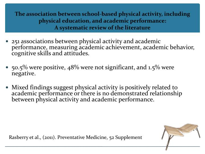 The association between school-based physical activity, including physical education, and academic performance: