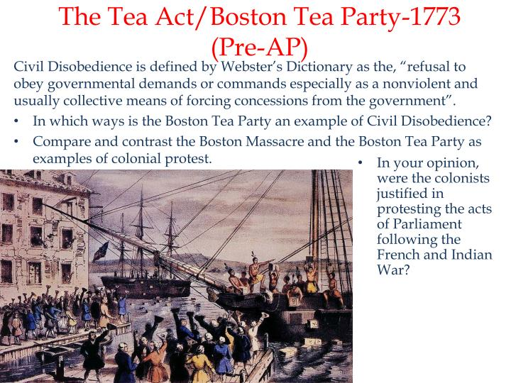 The Tea Act/Boston Tea Party-1773