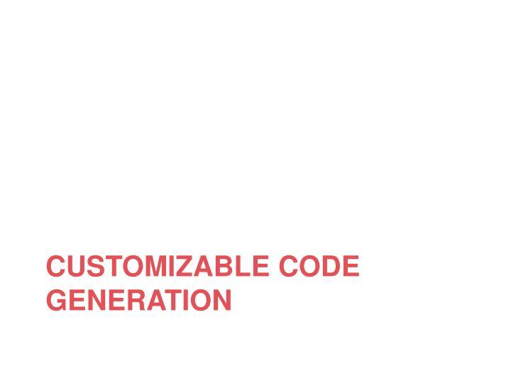 CUSTOMIZABLE Code