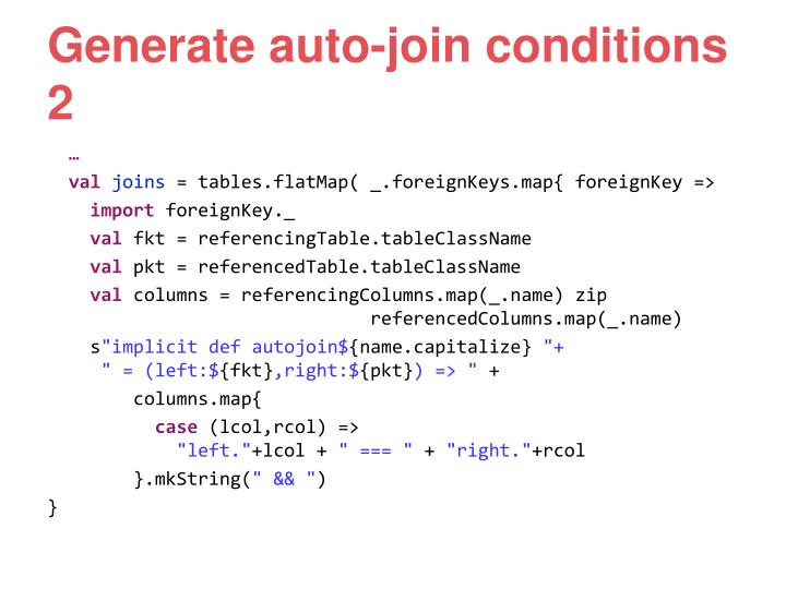 Generate auto-join conditions 2