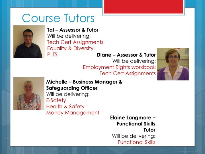 Course Tutors