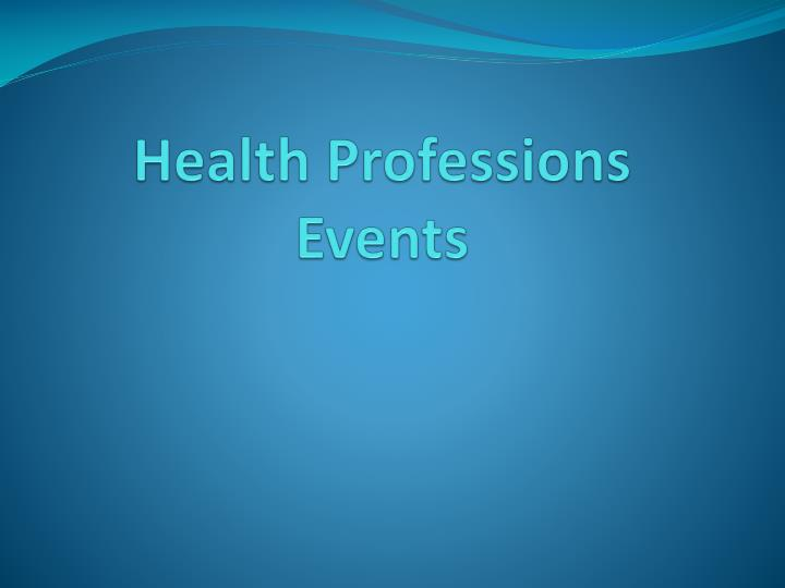 Health Professions Events