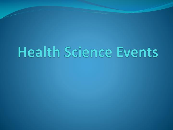 Health Science Events