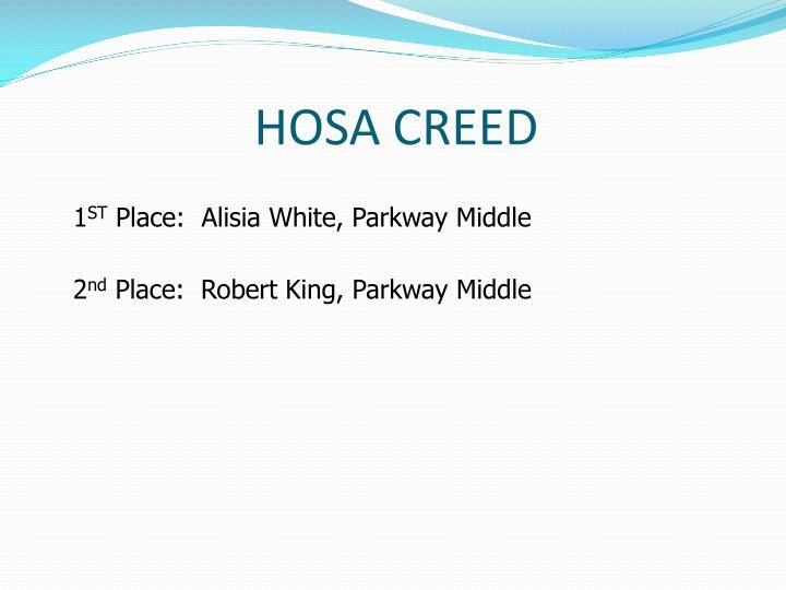 HOSA CREED